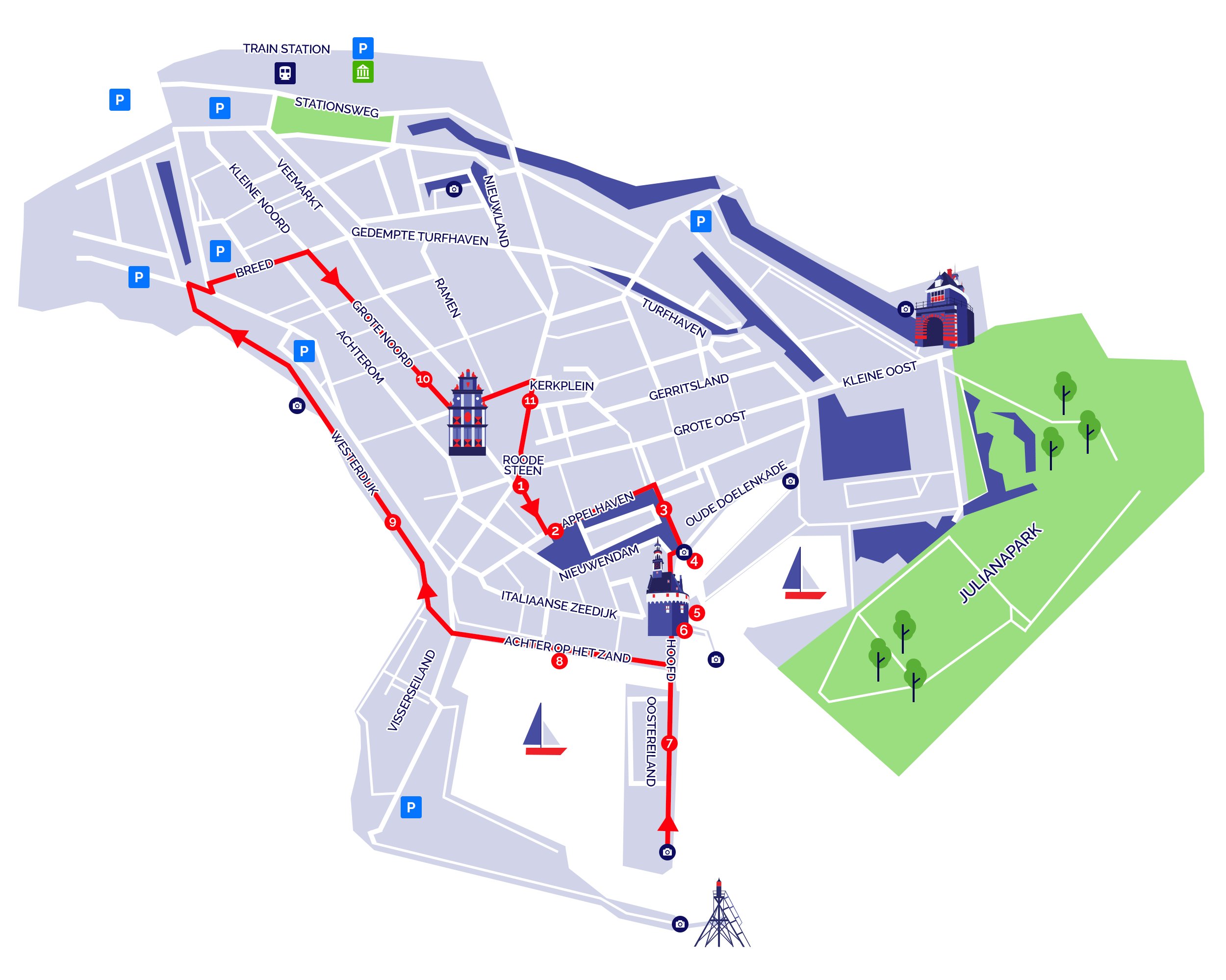 map of hoorn